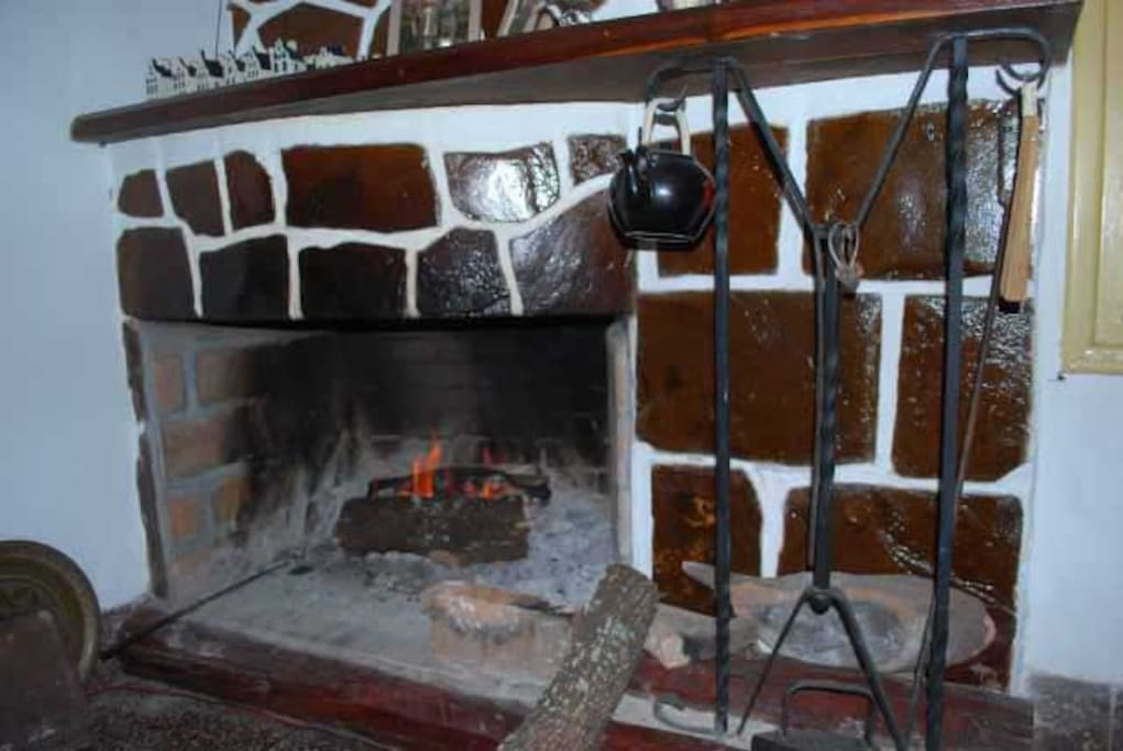 The fire place for a cold evening in the winter (July, Augusts).