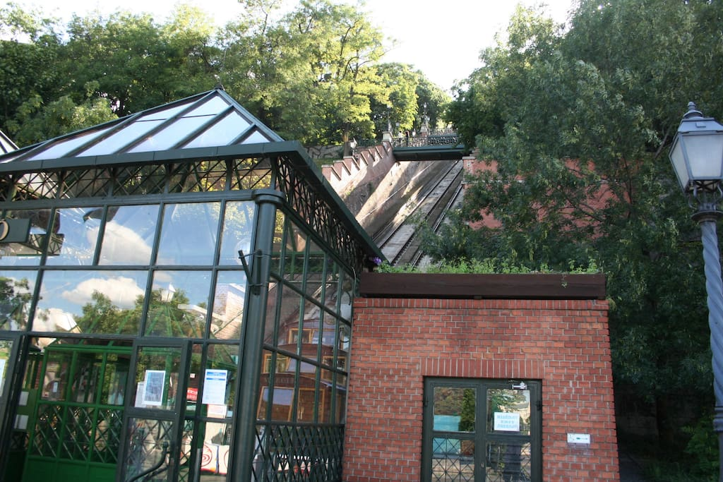 Funicular in Buda side to the Castle