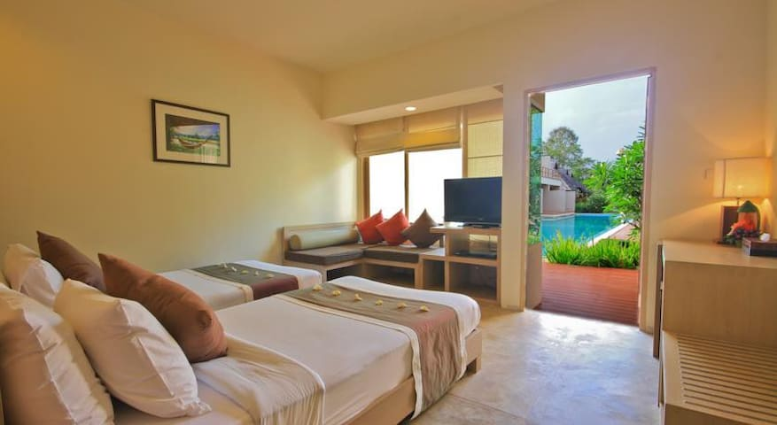 Twin Beds Room Near Pool in Pai - Pai - Apartemen