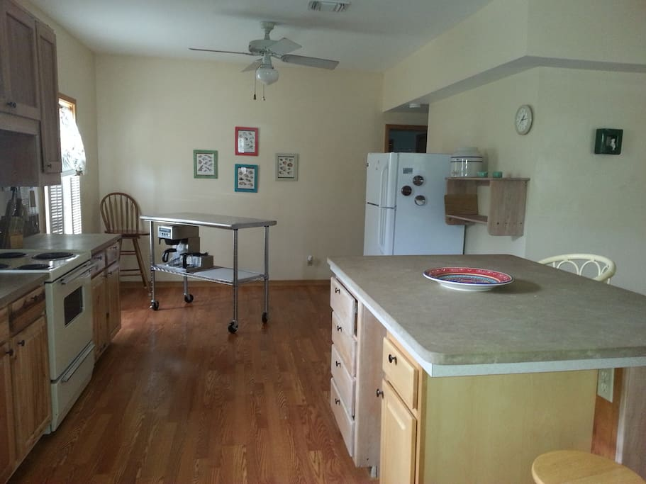 expansive kitchen has everything you need
