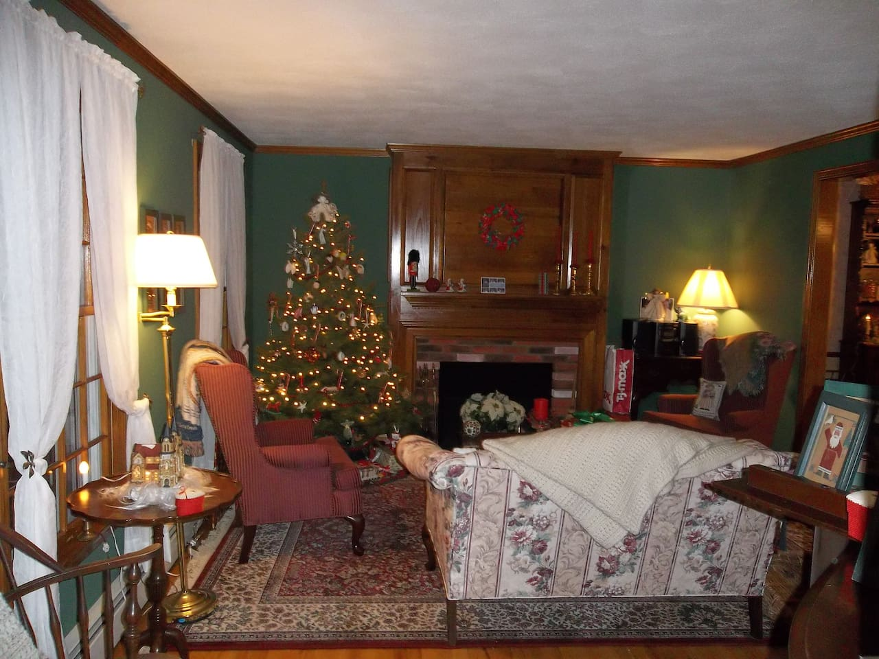 Living room at Christmas