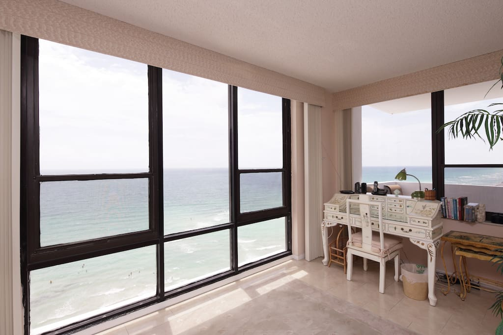 View of Ocean front from Side of Living Room