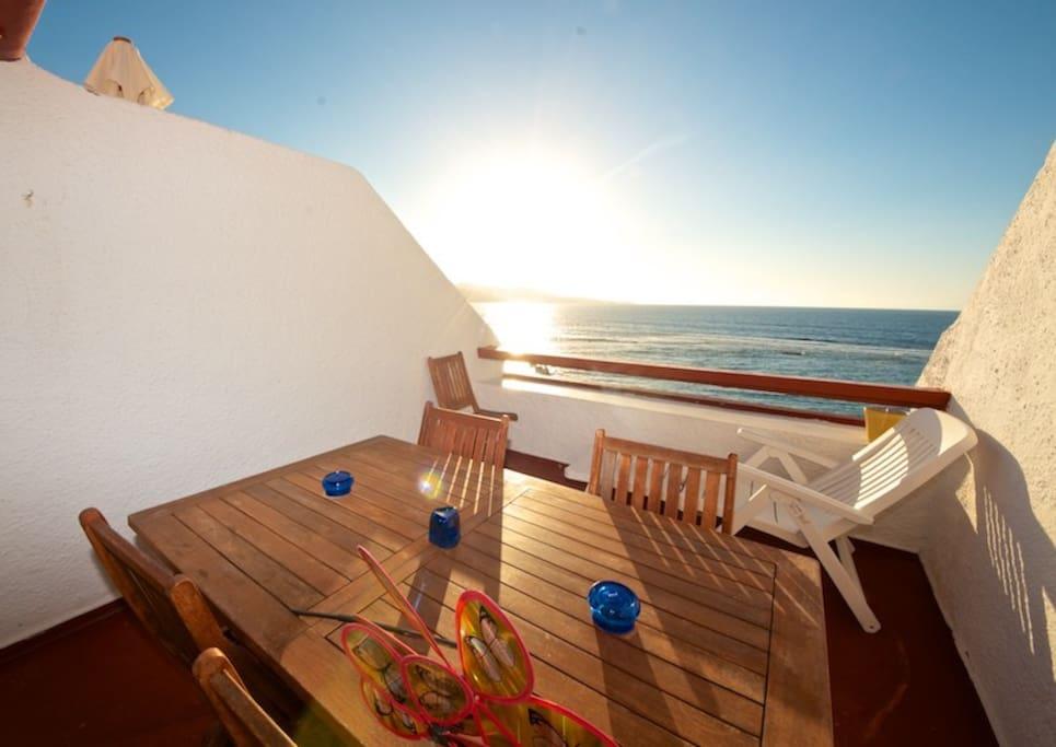 sun terrace over the canteras beachfront