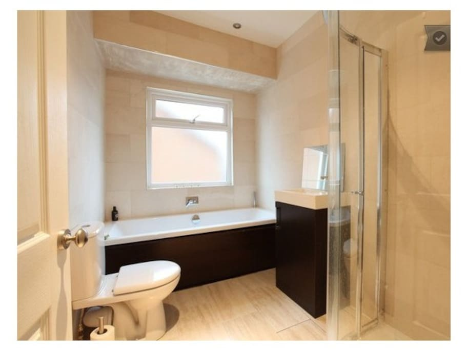Two bathroom/shower rooms