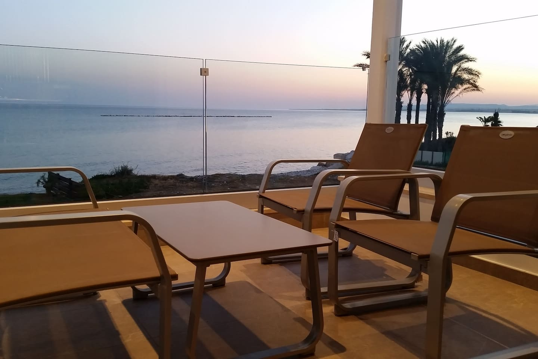 Sea View from veranda during sunset