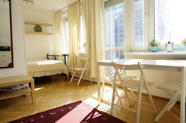 Sunny apartment next to Metro Politechnika