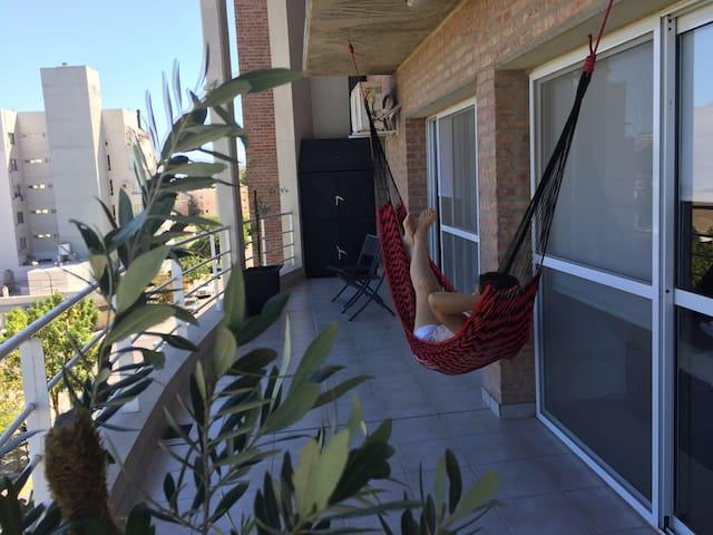 Hamaca paraguaya en el balcón
