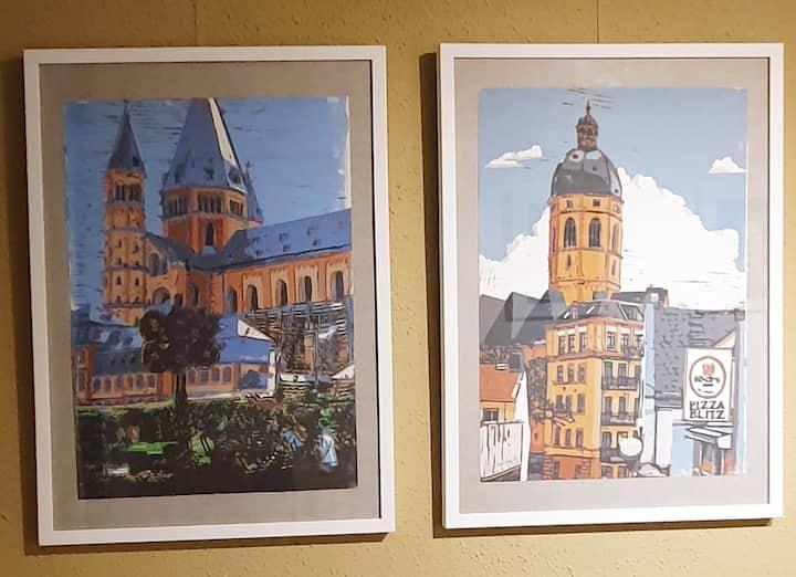 Modernes 1 Zimmer Apartment in Mainz