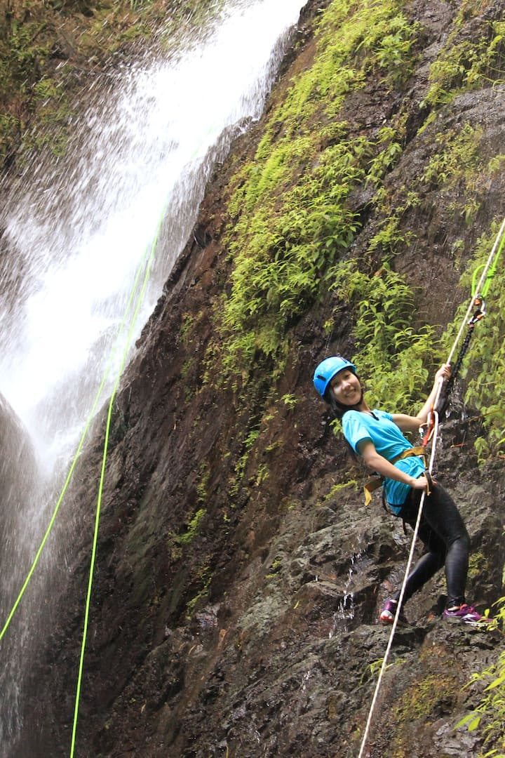 Learn how to rappel a waterfall