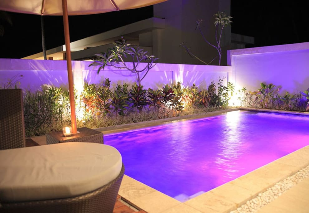 Night Scene at the pool villa