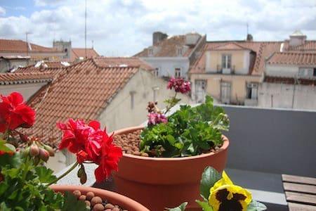 Rooftops in Bairro Alto, Lisbon - Lisboa