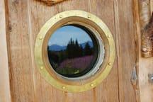 Reflection in the porthole window