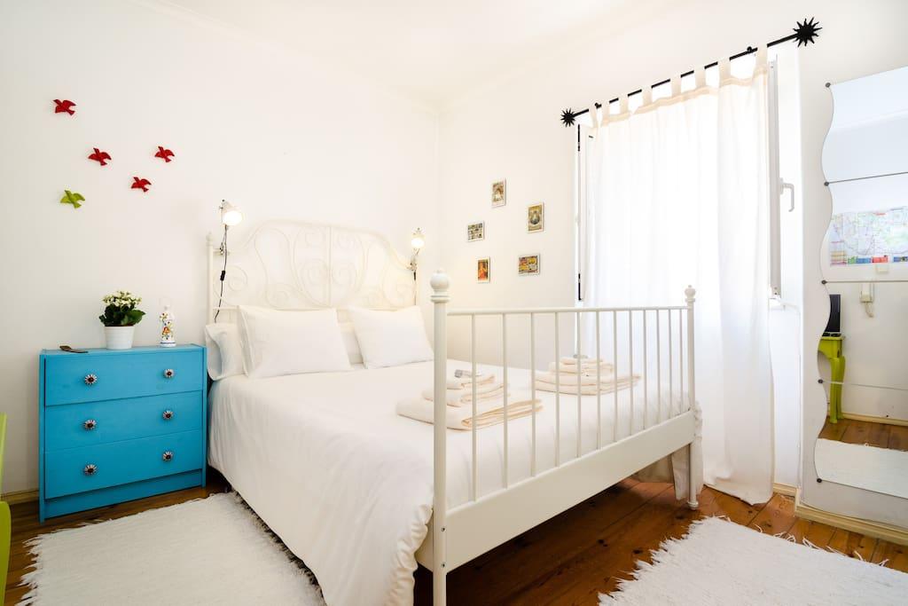 Upper floor, double bed