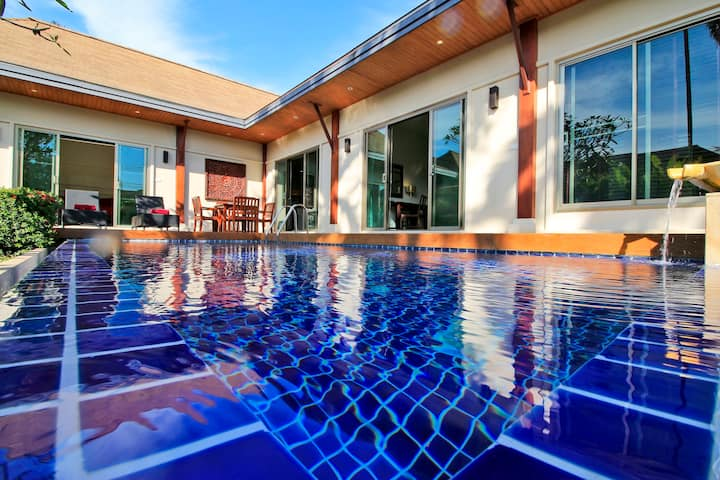 Fab Thai-Balinese Pool Villa, bathtub, 2 bedrooms