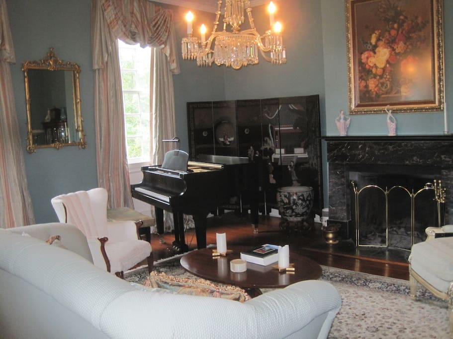 Formal Living Room with Grand Piano