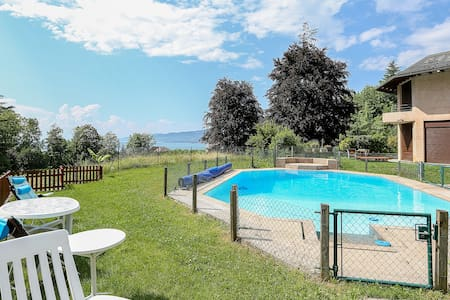 Apt in Villa sleeps 3 plus pool 8min to Montreux . - 维尔纳夫(Villeneuve) - 公寓