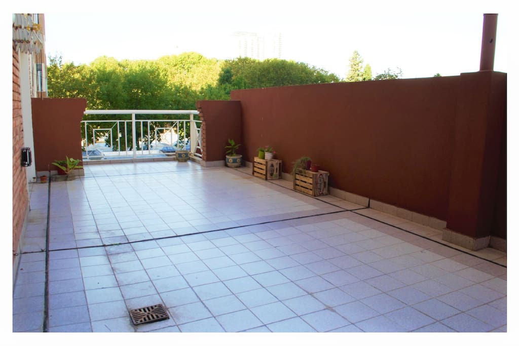 terrace to enjoy in a very quiet place