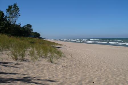 Quiet Walk to Lake Michigan Beach - Michigan City