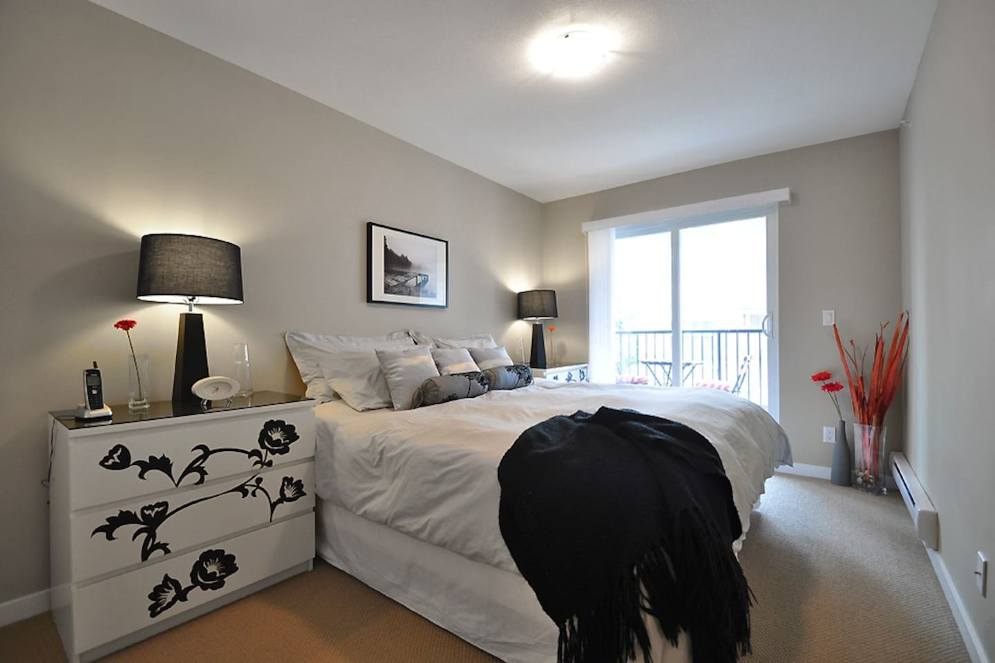 Master suite with pillow top King Bed