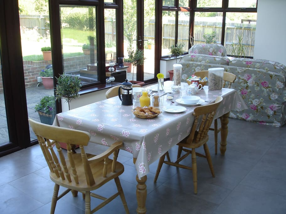 Conservatory Dining Area where Breakfast can be Served in the Summer Months