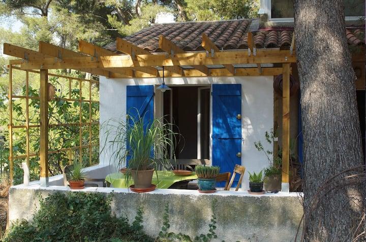 Chambre & SDB/WC, terrasse ombragée SORMIOU.