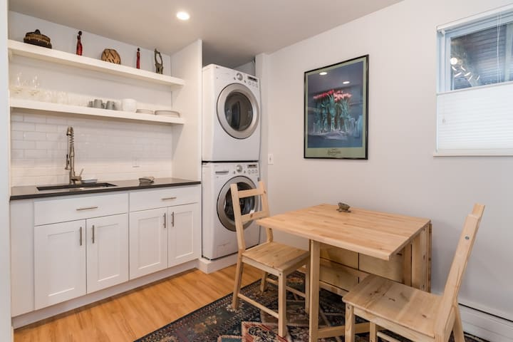 Newly remodeled 2 bedroom garden level apartment