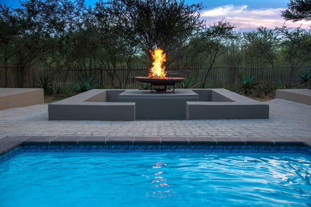 Pool and pit fire