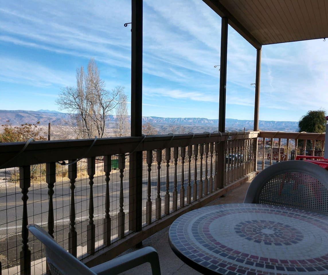 Actual view from your private Balcony, beautiful views of the Red Rocks of Sedona, the San Francisco Peaks in Flagstaff and the Verde Valley
