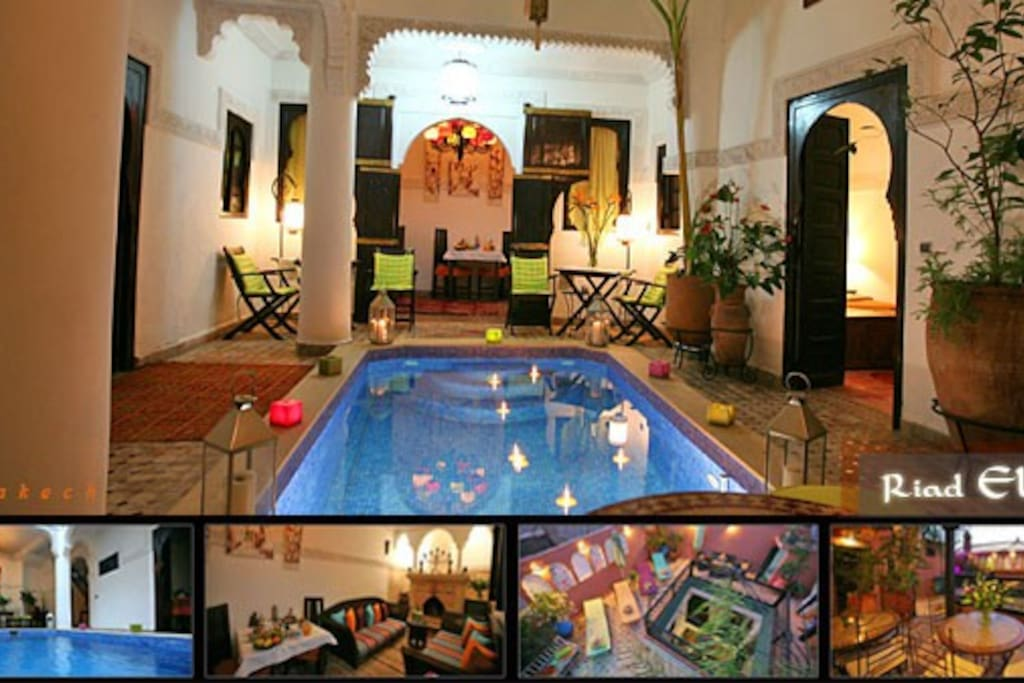 Riad Eloise Marrakech Patio et basssin