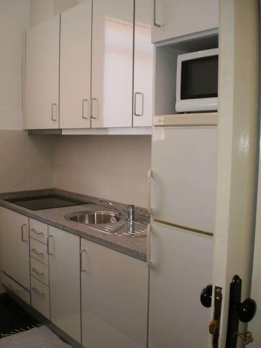 Kitchen - equipped with freezer, microwave,