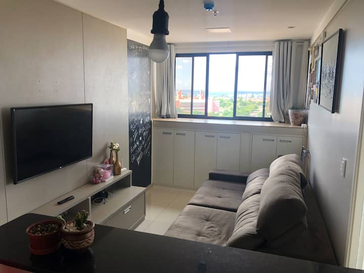 Apartamento exclusivo inteiro mobiliado