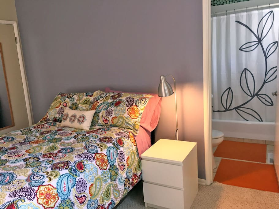 Bedside table and lighting