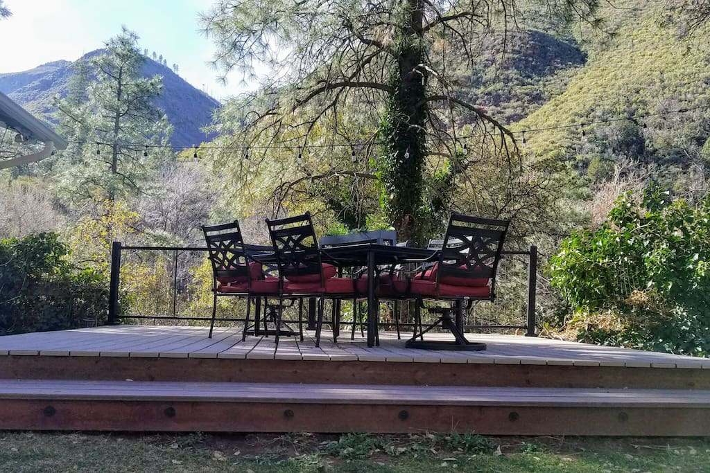 See and hear the creek from this beautiful deck