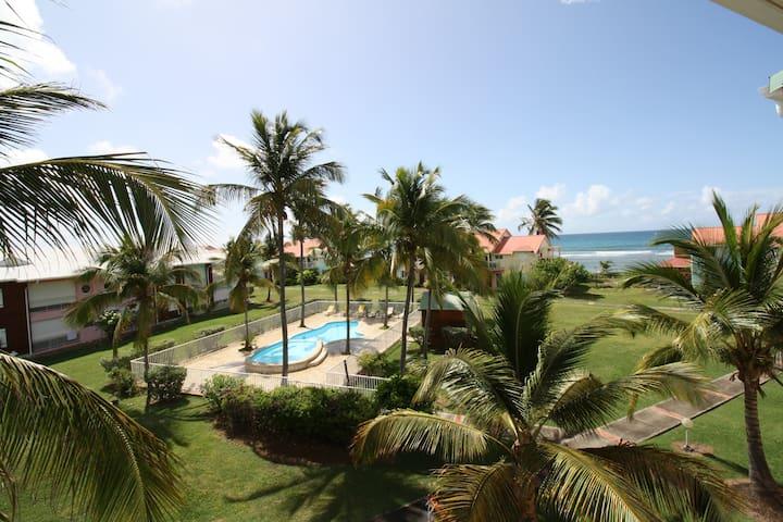 Spacieux 3 pièces en bord de plage et piscine
