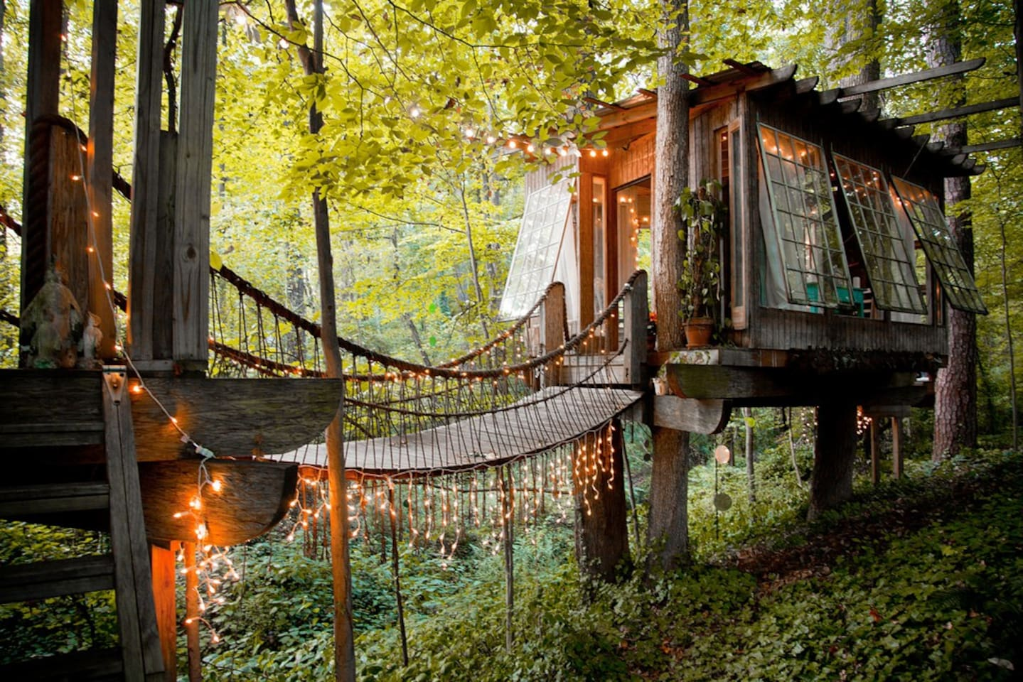 Treehouse secluded intown treehouse - treehouses for rent in atlanta