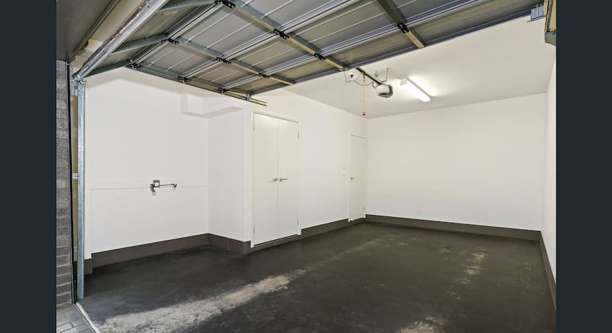 Apartment can be accessed by lockup garage