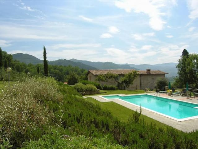 Beautiful farmhouse with pool broad panoramic view