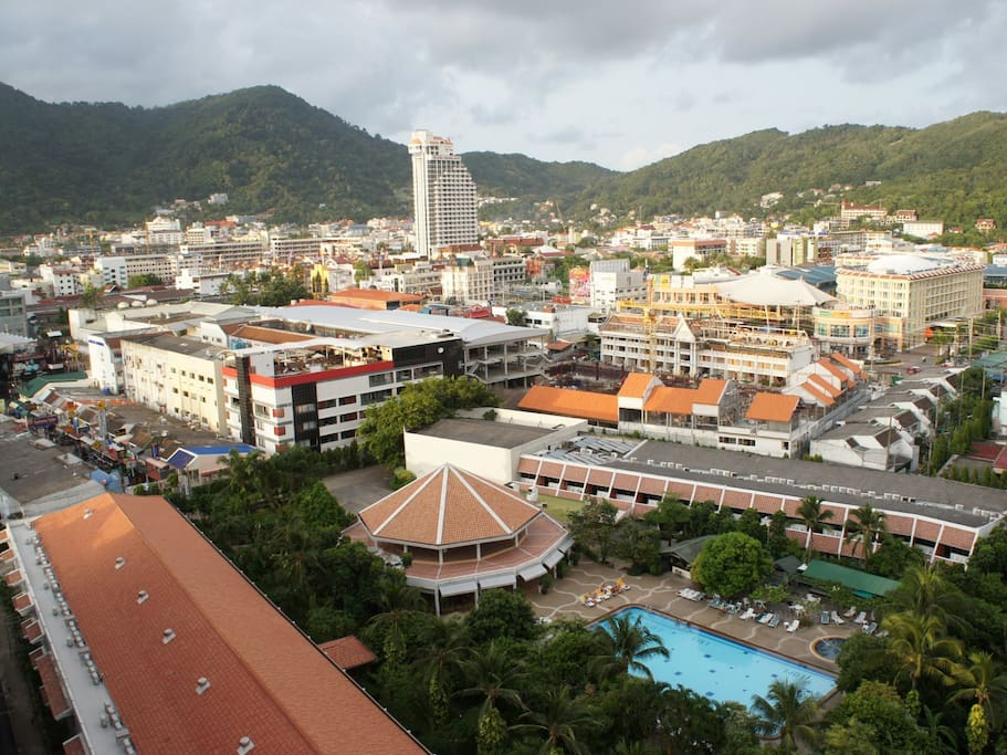 View of Patong from the balcony