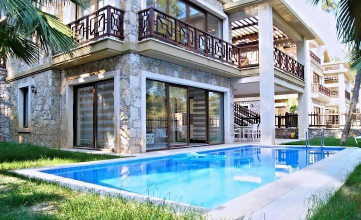 Stone villa with sea view in Gocek