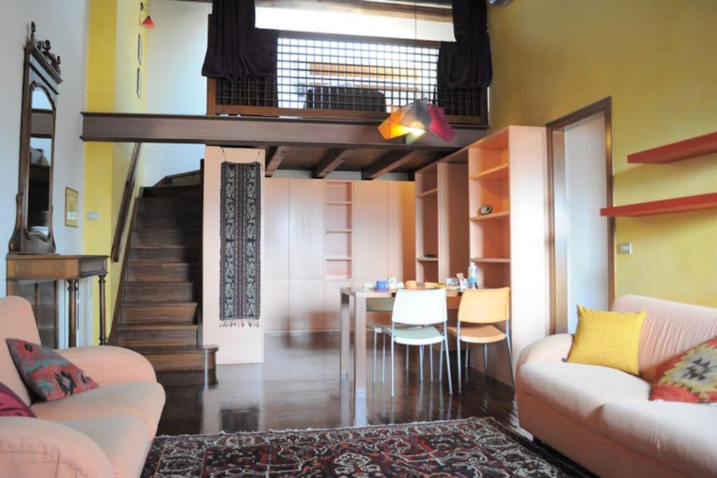 Living-room e soppalco