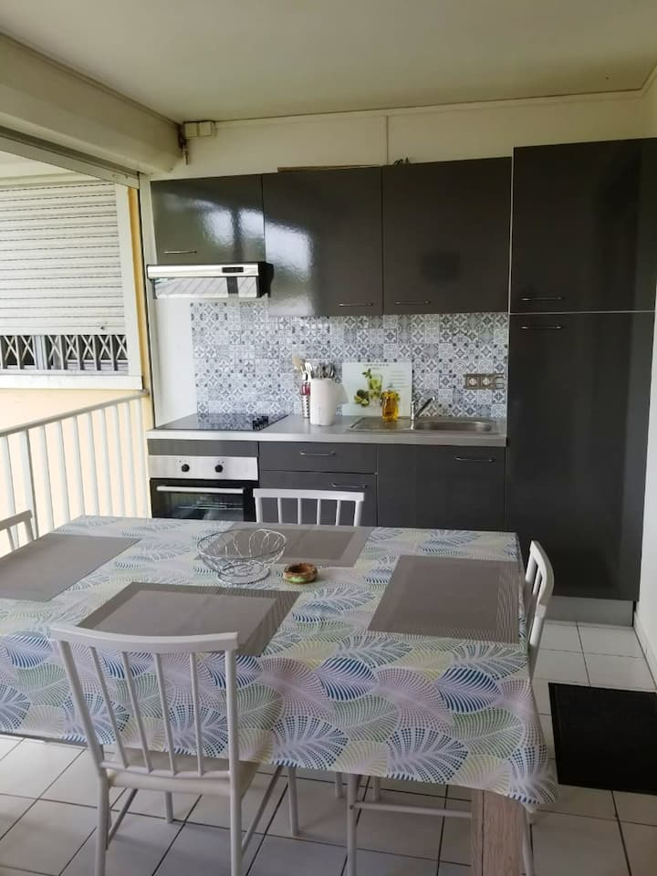 Apartment with one bedroom in Le Gosier, with enclosed garden and WiFi - 900 m from the beach