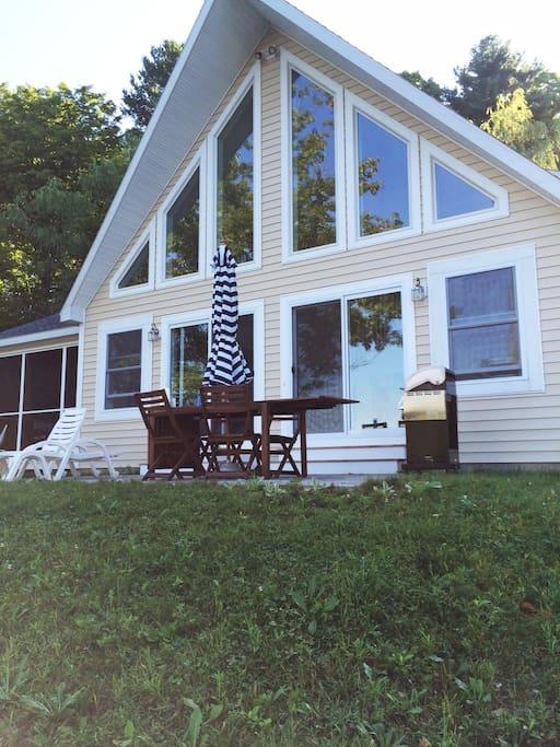 Lake side of house