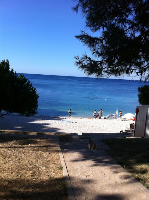 The beautiful beach practically in front of the house. Only 2 min. on foot, just down the street!