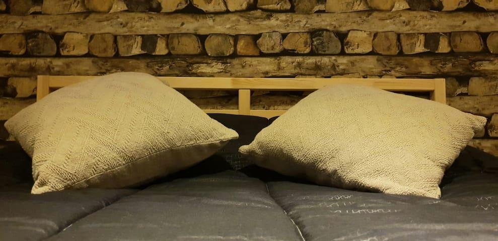 Chambre boisée