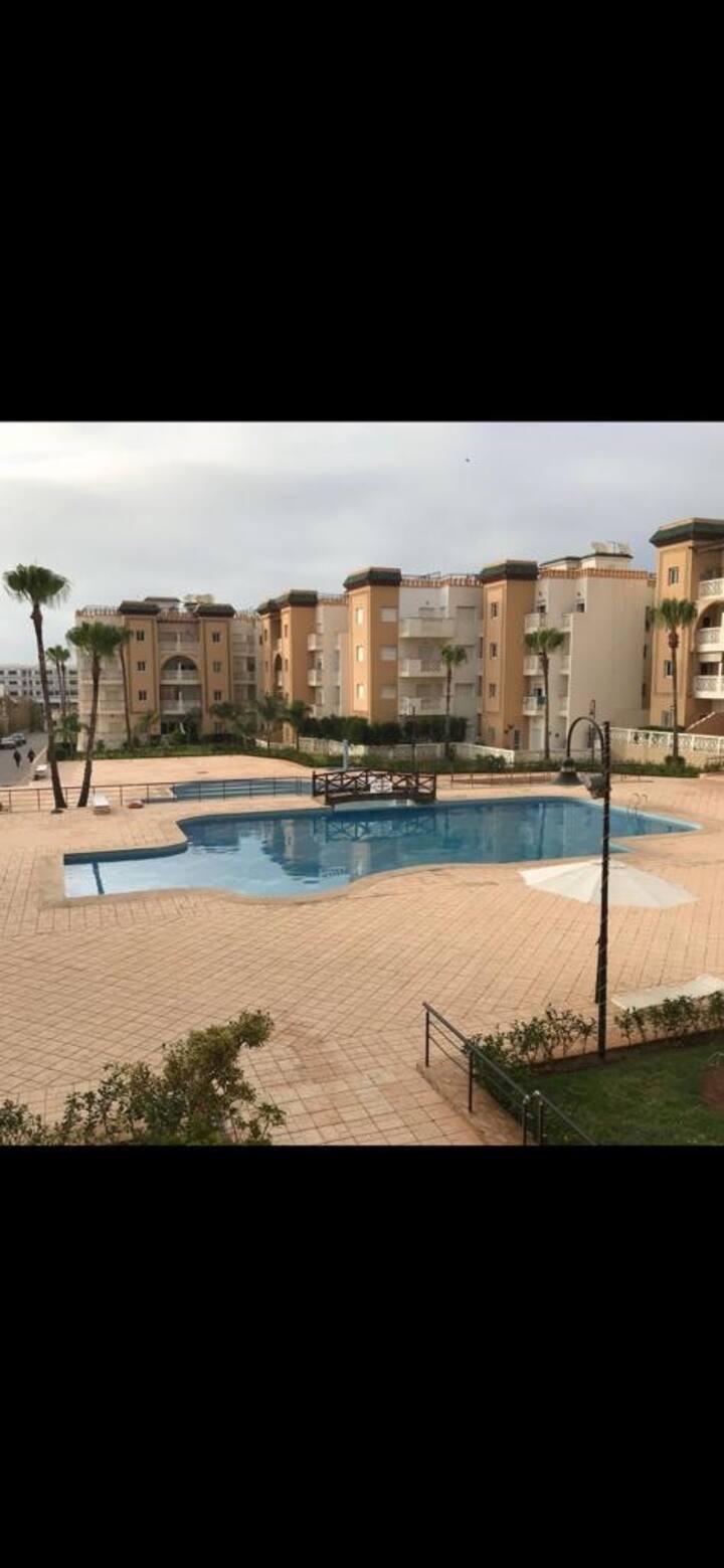 Appartement avec piscine al kawtar
