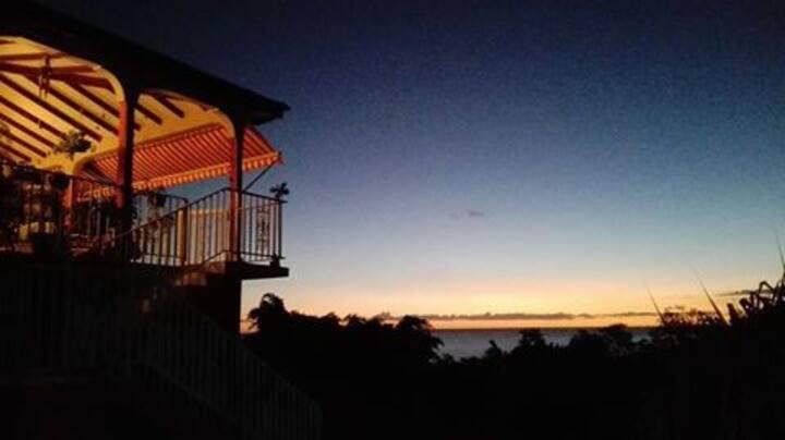 Chambre Zen dans villa vue mer