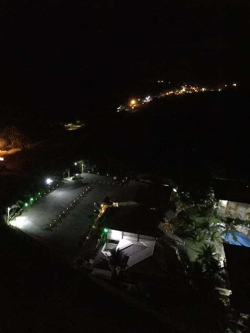 Night View...you can hear the waves