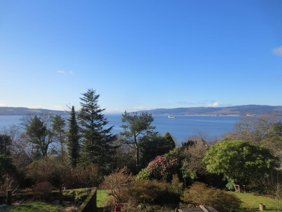 January view from verandah.
