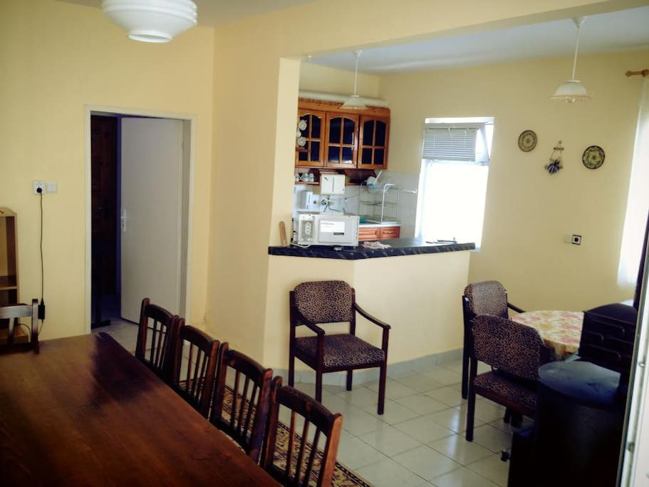 The diningroom with a kitchen