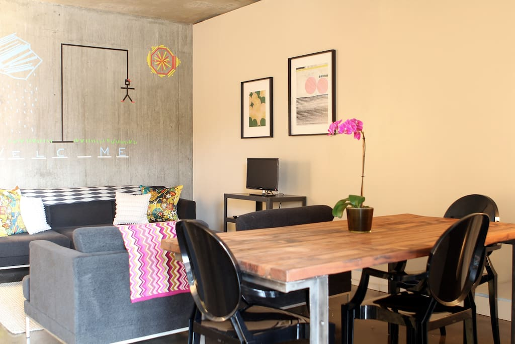 dining area to living area-FREE WIFI!
